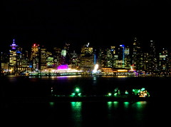 A feast of colours and lights (peggyhr) Tags: peggyhr skyline cityscape harbour lights colourful reflections dsc00894a vancouver bc canada