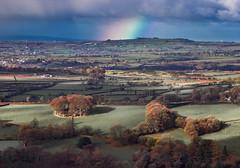 Field day (snowyturner) Tags: rainbow moorland fields dartmoor clouds dew morning 300mm