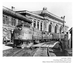 1950s engine 4083 union station (albany group archive) Tags: albany ny history 1950s engine 4083 union station railroad train depot old historic historical photo photograph picture vintage