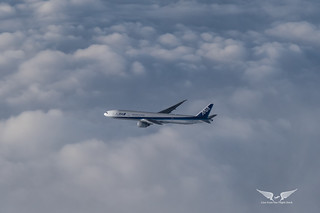 Formation flying with an ANA 777-300ER