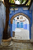 Chefchaouen (simone_a13) Tags: morocco maroc chefchaouen arch archway alley lane blue tree historic medina naturalframe path