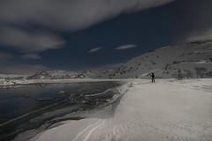 Taumevatn at night - D8G_1800c (Viggo Johansen) Tags: taumevatn night moon stars sky clouds snow ice trees lake longexposure winter november