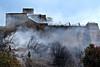NoFear (lauttone1) Tags: salerno italia italy ita sa meridione south fire incendio forte la carnale canon eos 1d mark iii firemen vigili del fuoco smoke fumo photojournalism fotogiornalismo