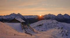sunrise Speikboden (Körnchen59) Tags: sunrise sonnenaufgang speikboden ahrntal südtirol italien italy schnee snow hütte berge mountains körnchen59 elke körner sony
