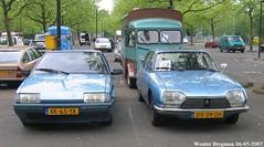 BX & GS (XBXG) Tags: xk65yk dx39zh citroën bx 14 1989 citroënbx gs pallas 1979 citroëngs bleu blue citromobile 2007 citro mobile veemarkt utrecht nederland holland netherlands paysbas vintage old classic french car auto automobile voiture ancienne française vehicle outdoor