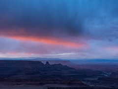 Sunrise and Storm (Ramona H) Tags: deadhoresepointstatepark deadhorsepoint utah canyon color statepark storm sunrise
