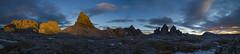 Sunset panorama with Schusterplatte, Toblinger Knoten and Drei Zinnen (Bernhard_Thum) Tags: bernhardthum thum alps trecime dreizinnen paternkofel toblingerknoten schusterplatte montecristallo hc3535 hasselblad h6d100