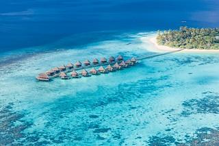 Birds eye view of Maldives