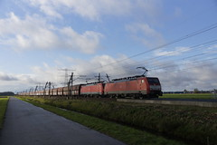 Betuweroute Angeren DB Cargo 189 080-5 + 189 026-8 met beladen kolentrein op weg richting Emmerich 12-11-2017 (marcelwijers) Tags: betuweroute angeren db cargo 189 0805 0268 met beladen kolentrein op weg richting emmerich 12112017 080 026 siemens deutsche bahn class serie br baureihe nederland niederlande netherlands betuwe route gelderland freight trein train kolen railway railways railroad eisenbahn strecke lingewaard guelders