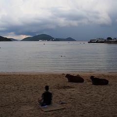beach (Steve only) Tags: olympus pen ep5 panasonic lumix g vario 14453556 1445mm f3556 m43 snap island 梅窩 sea sky cloud
