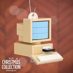 Project 3: Old PC Ornament (powerpig) Tags: lego powerpig computer ornament buildtogive