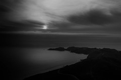Dark World (World-viewer) Tags: landscape mnml mnmlsm bluehour sunset sflocal clouds water marine ocean shoreline beach seascape ilce6000 a6000 sony travel ngc compelling atmospheric moody blackandwhite bw monochrome outdoor minimalist minimal ptbonita lighthouse sanfrancisco