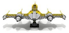 Naboo NB-1S Royal Bomber (BrickerNN) Tags: lego legostarwars star wars moc starfighter ship landing imperial trooper shadow death dropship transport aurebesh starwars naboo nb1s royal bomber