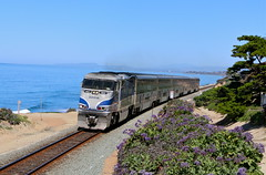 Del Mar, California (UW1983) Tags: trains railroads amtrak pacificsurfliner passengertrains pacificocean delmar california