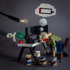 Burn Out (74louloute) Tags: lego moc 74louloute brickbuild burn out chair office battery low computer legofan legomoc legopic legoman legomania legophoto legogram legolover legophotgrapher legoafol legonerd legobuild legography legoinstagram legocollector legocreation vitruvianbrix toyslagramlego bricknetwork legophotography legoart legocreator legostagram afol brickcentral legos toycommunity toyslagram toyartistry