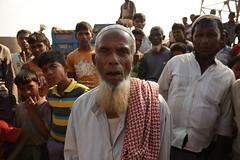 An elderly Rohingya man in the Kutapalong camp near Cox's Bazar, Bangladesh