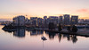 December sunrise (Moe W) Tags: vancouver bc canada mauricewoodworth nikond3s dslr falsecreek sunrise 2470mm water condo highrise city boats clouds athletesvillage reflections