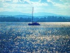 Crazy sparkles I (elphweb) Tags: hdr highdynamicrange nsw australia coast coastal seaside yacht boat sailer sparkles water ocean sea bay sparkly waterway peace peaceful serene serenity creek