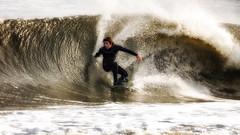Winter Surfing Bay Head NJ
