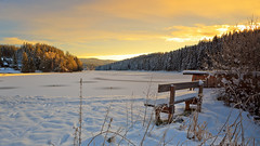 A morning at the frozen lake (Bernhard Sitzwohl) Tags: morning dawn sunrise winter lake frozen frost nature landscape greatphotographers c