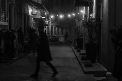 mood of the street / no one stands still... (Özgür Gürgey) Tags: 2017 24120mm bw d750 darkcity nikon blur evening grainy lights lowlight motion people silhouettes street istanbul