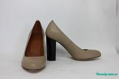 Бежевые кожаные туфли на толстом каблуке (azzafazzara) Tags: туфли обувь кожа