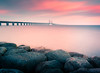 The Bridge (andreassofus) Tags: landscape nature longexposure lee leebigstopper bigstopper water ocean sea seascape bridge sky clouds sunrise morning summer summertime travel travelphotography malmö skåne sweden outdoor horizon nopeople rocks