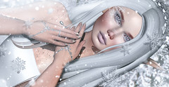 Snowflake elf (meriluu17) Tags: astralia izzie fabia arte snow snowflake winter frost frosty closeup cold elf elven fantasy mafic surreal white coldy sweet