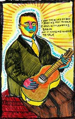 Blind Lemon Jefferson (A. Galassi) Tags: jazz blue portraits markers artbrut
