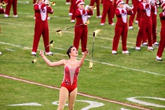 The lady plays with Fire. 8728 (Robert Duval Photography) Tags: nikon nikor oklahoma sooners fire norman football game