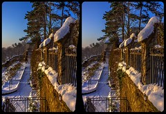 Castle Eckberg in winter 3-D / CrossView / Stereoscopy / HDR / Raw (Stereotron) Tags: saxony sachsen dresden elbflorenz castle schlos eckberg winter wonderland snow cold clearbluesky quietearth crosseye crosseyed crossview xview cross eye pair freeview sidebyside sbs kreuzblick 3d 3dphoto 3dstereo 3rddimension spatial stereo stereo3d stereophoto stereophotography stereoscopic stereoscopy stereotron threedimensional stereoview stereophotomaker stereophotograph 3dpicture 3dglasses 3dimage twin canon eos 550d yongnuo radio transmitter remote control synchron kitlens 1855mm tonemapping hdr hdri raw