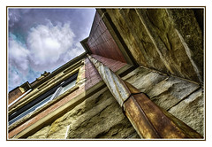 Looking up the Old Downspout (TAC.Photography) Tags: hdr texture textured leadinglines leading downspout raingutter oldbuildings oldstructure oldbrick oldschoolhouse oldbuilding historic historicbuilding historicarchitecture architecture architecturalstyle architecturalphotography hdrphotography baycity baycityhistory baycityhistorichomes d3000 nikonphotographer nikon tomclarkphotographycom tacphotography tomclark