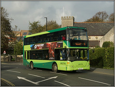 1152, East Cowes (Jason 87030) Tags: 5 newport eastcowes hill church roadside sony ilce alpha a6000 hw09baa scania gosouthcoast storm weather light color colour green southernvectis doubledecker 1152