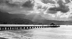 Hanalei Pier (xirn32) Tags: bridge pier kauai hawaii hanalei hanaleibay hanaleipier blackandwhite