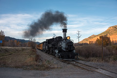 Returning to Durango (std70040) Tags: denverriogrande denverandriogrande durangosilverton durangoandsilverton k28 steam steamlocomotive steamengine steamtrain colorado railway train smoke