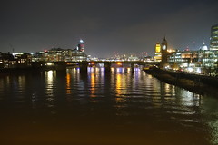Southwark Bridge (Sparky the Neon Cat) Tags: europe united kingdom uk great britain gb england london southwark bridge river thames reflection night