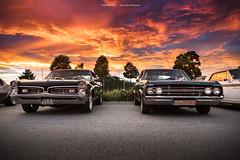 GTO and F-85 (Dejan Marinkovic Photography) Tags: 1967 pontiac gto 1964 oldsmobile cutlass american classic muscle car sky sunset sundown