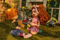 Heather and Barclay (kinmegami) Tags: dollhouseminiature doll miniature danbo danboard totoro kelly tommy obitsu hybrid