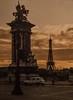sunset in Paris, 1982... (Alvin Harp) Tags: paris 1982 eiffeltower sunset film vintage alvinharp
