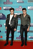 Grayson Dolan (R) and Ethan Dolan (L) of The Dolan Twins attend the MTV EMAs 2017 held at The SSE Arena, Wembley on November 12, 2017 in London, England. (Photo by Andreas Rentz/Getty Images for MTV)