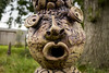 the big ooooh (Mark Rigler -) Tags: gargoyle grotesque scary ugly fantastic fantasy carving animal bird wood tree
