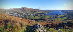 Ambleside from Todd Crag (Andrew Gustar) Tags: lakedistrict cumbria ambleside windermere todd crag wansfell pike panorama