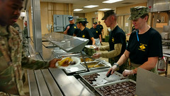 New York Naval Militia feeds troops at Camp Smith (New York National Guard) Tags: newyorknavalmilitia campsmith puertorico cooks donations collections mess chow