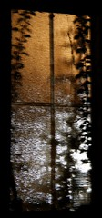 Garage window at night. (Gillian Floyd Photography) Tags: garage window night long exposure handheld