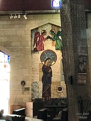 15 - Angyali üdvözlet temploma - Szűz Mária tiszteletét kifejező kép - Magyarország / Bazilika Zvestovania - obraz Panny Márie - Maďarská republika
