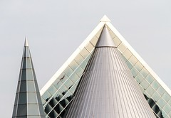 Triangles (Karen_Chappell) Tags: building architecture triangle glass grey blue ottawa ontario canada abstract geometry geometric steel metal travel