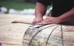 Sheffield Lumberjacks (rentavet) Tags: analog konicacenturia400asa dynax505si sheffieldjohnnyappleseedfestival sheffieldpa
