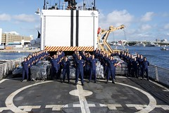 Cutter Escanaba crew offloads more than 12 tons of cocaine (Coast Guard News) Tags: uscg drugs cocaine offload cgc fortlauderdale florida unitedstates us