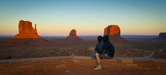 Couple watching sunset (gorbould) Tags: 2017 mittens monumentvalley navajotribalpark s6 usa utah america arizona butte buttes dusk evening phonepic samsung southwest sunset oljatomonumentvalley unitedstates us