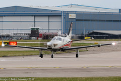 HB-KRJ - 2016 build Socata TBM930, entering Runway 23L at Manchester prior to departure (egcc) Tags: 1129 buzzi dahersocata egcc hbkrj lightroom man manchester n930t ringway socata tbm tbm930